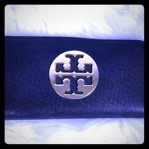 Black and gold Tory Burch 7 1/2 X 4 wallet